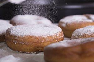 preparing donuts