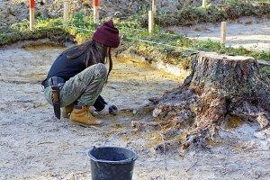 Step archaeological work