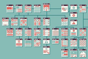 Abstract website sitemap