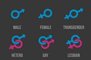 Sexual orientation vector icons