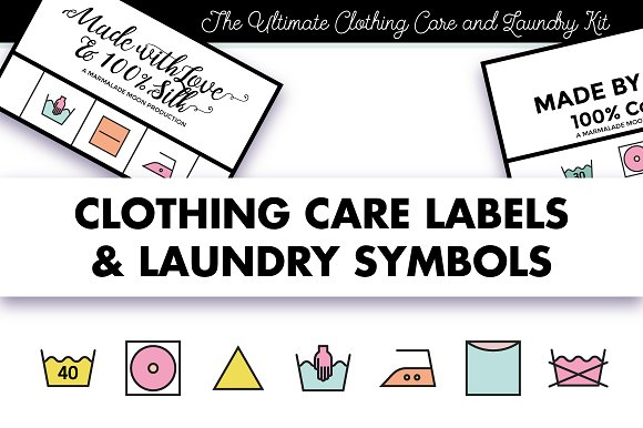 Clothing Labels And Laundry Symbols Icons Creative Market