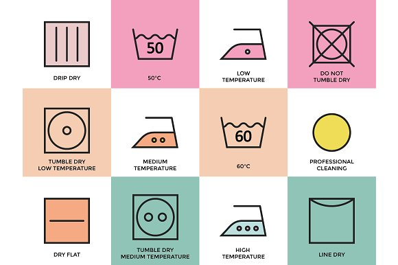 Clothing Labels and Laundry Symbols