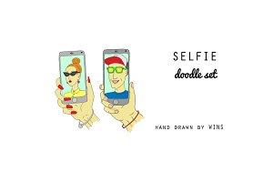 Selfie Doodle Set