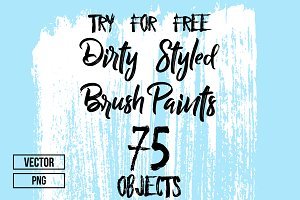 75 Hand Crafted Dirty Brush Paints