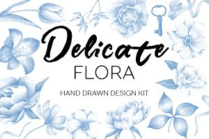 Delicate flora-exclusive design kit