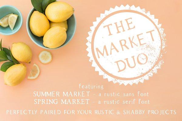 The Market Duo - Rustic Serif & San…