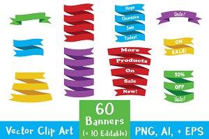 Banner Clip Art Mega Bundle