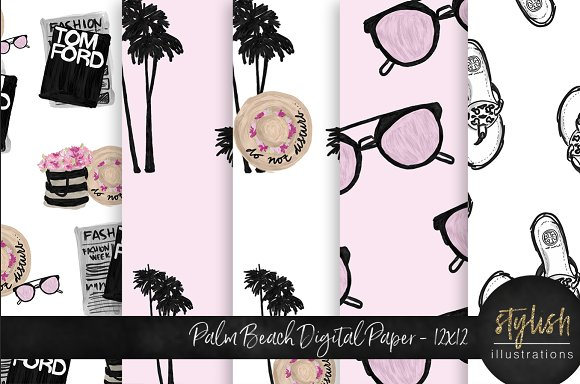 Palm Beach Digital Paper