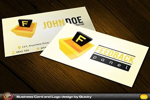 Feedback Panel Business card, Logo