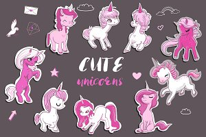 9 cute unicorns