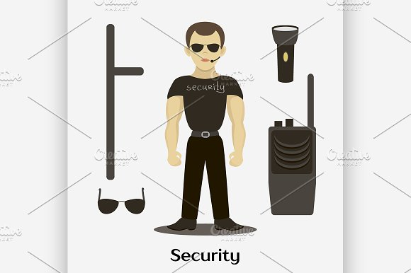 Security Man Standing