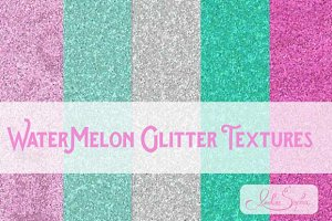 Watermelon Digital Glitter Textures