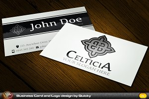 Celticia Business Card and Logo