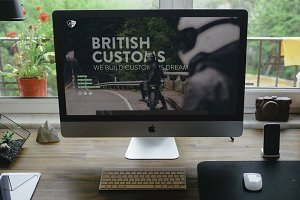 British Customs Landing page (PSD)