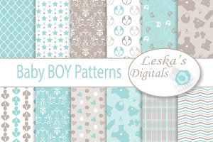 Bay Boy Digital Paper Pack