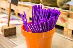 drinking straw lilac