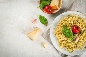 Italian pesto pasta