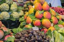 various natural fruit