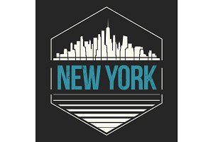 New York City t-shirt design. Vector illustration.