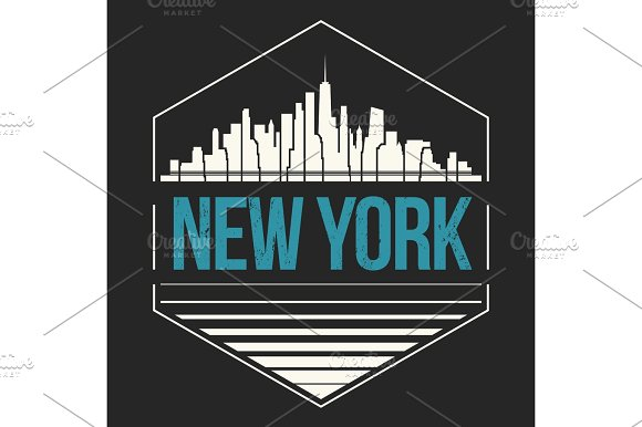 New York City T-shirt Design Vector Illustration