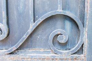 Ornament Iron Door Detail