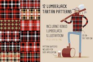 12 Lumberjack Tartan Patterns
