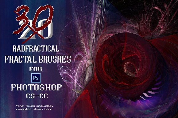 30 RadFractical Fractal Brushes