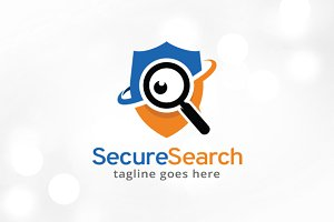 Secure Search Logo Template Design