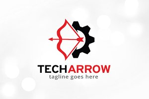 Tech Arrow Logo Template Design