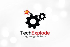 Tech Explode Logo Template Design