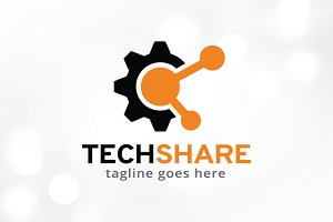 Tech Share Logo Template Design