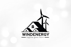 Wind Energy Logo Template Design