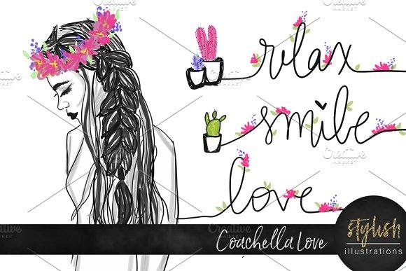 Coachella Love Illustration Set