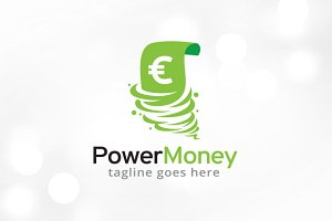 Power Money Logo Template Design