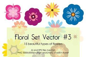 Floral Set Vector #3