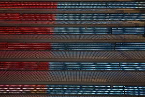 stairs with led lights