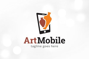 Art Mobile Logo Template Design