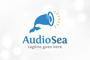 Audio Sea Logo Template Design