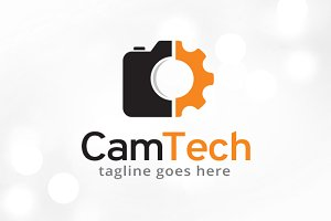 Camera Technology Logo Template