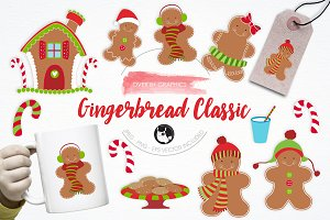Gingerbread Classic illustrations