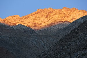 Sunset at Andean Mountains.