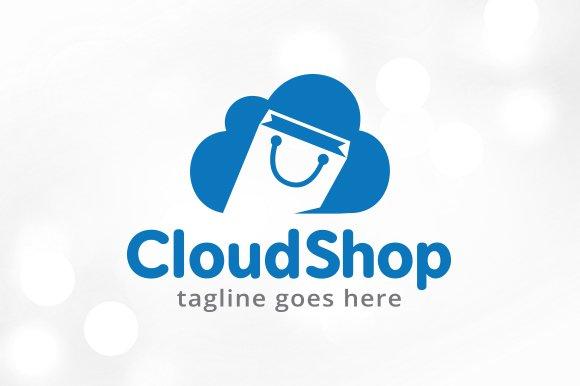 Cloud Shop Logo Template Design