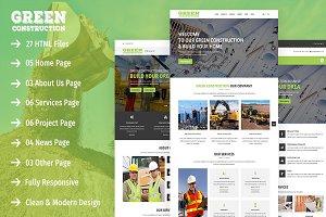 Green Construction - HTML5 Template
