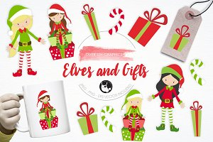 Elves and Gifts illustration pack