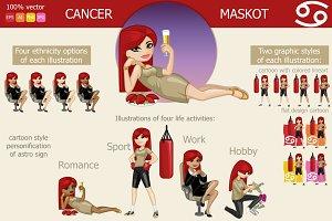 Cancer Girl Maskot