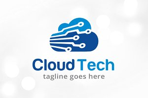 Cloud Tech Logo Template Design