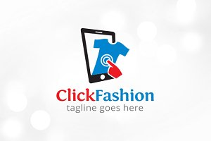 Click Fashion Logo Template Design