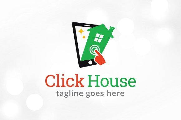 Click House Logo Template Design