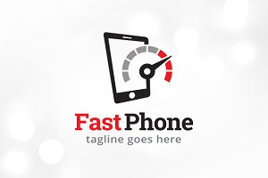 Fast Phone Logo Template Design