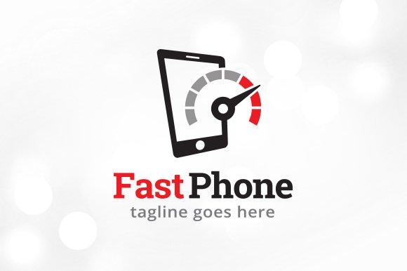 Fast Phone Logo Template Design